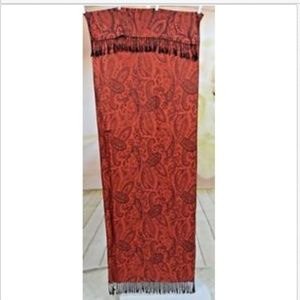 100 % Cashmere Red & Black Paisley Scarf Shawl